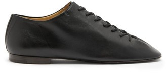 Lemaire Crepe-sole Grained-leather Shoes - Black