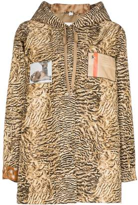 Burberry tiger-print lightweight jacket