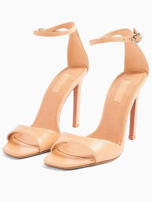 Topshop Silvy Stiletto High Heels - Nude