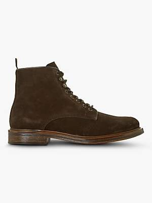 Dune Cocoa Suede Ankle Boots