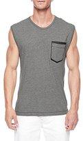 True Religion Men's Patch Pocket Muscle Tank Heather Grey