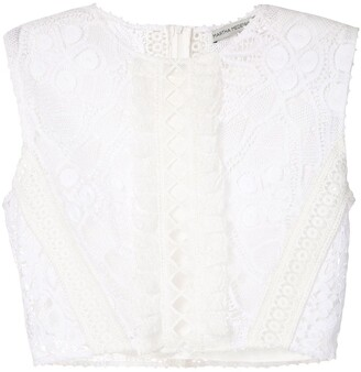 Ariella lace cropped top