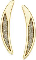 ABS by Allen Schwartz Gold-Tone Crescent Glitter Drop Earrings