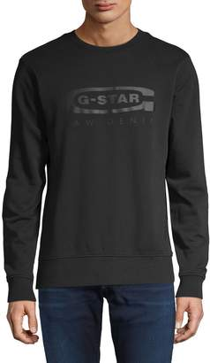 G Star Raw Logo Cotton Sweatshirt