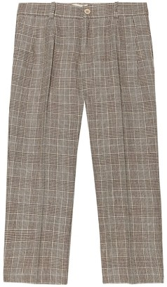 Gucci Kids Checked wool-blend pants