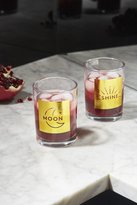 Urban Outfitters Moon Shine Glasses Set