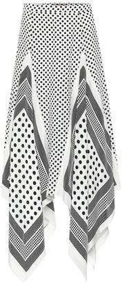 Altuzarra Boom dotted silk midi skirt