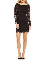 Jump Lace-Up Sleeves Lace Sheath Dress