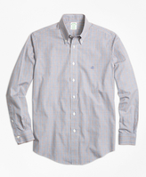 Brooks Brothers Non-Iron Regent Fit Heathered Glen Plaid Sport Shirt