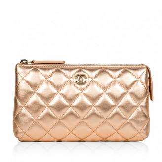 Chanel Metallic Leather Travel bags