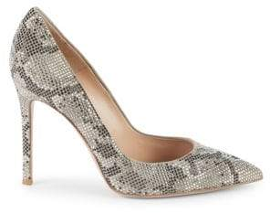 Gianvito Rossi Embellished Leather Pumps