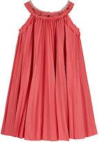 Lanvin EMBELLISHED PLEATED DRESS-PINK SIZE 8