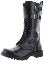 Volatile Tank Women's Buckle Combat Boots Faux Leather Black Size 10
