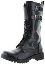 Volatile Tank Women's Buckle Combat Boots Faux Leather Black Size 8.5