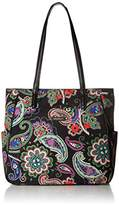 Vera Bradley Printed Preppy Poly Zip Top Tote Bag
