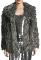 MICHAEL Michael Kors Faux-Fur Open-Front Peacoat