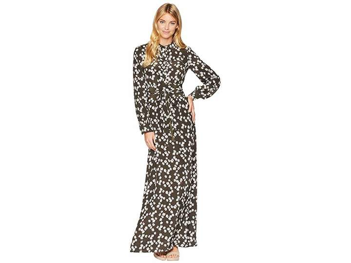 Juicy Couture Abbey Floral Silk Maxi Dress Women's Dress