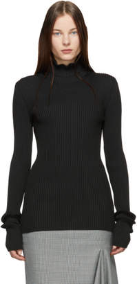 Maison Margiela Black Rib Gauge 18 Vanise Turtleneck
