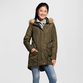 Mossimo Women's Utility Parka with Faux Fur Trim