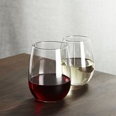 Crate & Barrel Stemless Wine Glasses
