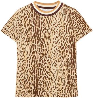 Zimmermann Floral-print Linen And Cotton-blend Jersey T-shirt