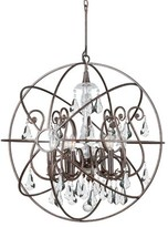 Charleston 6 - Light candle Style Globe Chandelier with Crystal Accents Rosdorf Park Finish: Bronze