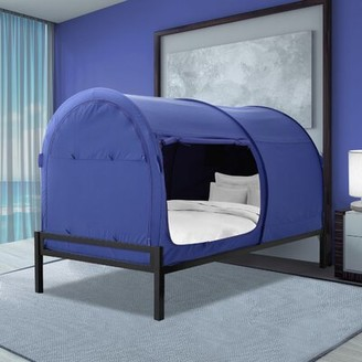 Tampa Privacy Space Bed Canopy Ebern Designs Color: Blue