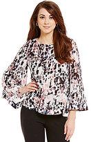 Antonio Melani Reese Long Bell Sleeve Silk Blouse