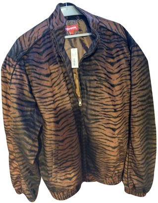 Supreme Brown Polyester Jackets