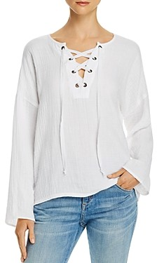 Velvet by Graham & Spencer Yasmine Lace-Up Top