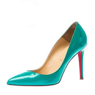 Christian Louboutin Pigalle Turquoise Patent leather Heels