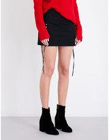 Helmut Lang Corset-panel stretch-cotton mini skirt