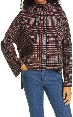 Allude Wool & Cashmere Turtleneck Poncho