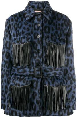 Andamane Evita animal print shirt jacket