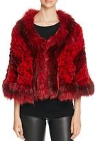 Maximilian Furs Knit Chinchilla Stole - Bloomingdale's Exclusive