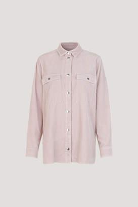 Samsoe & Samsoe Leonora hushed violet cord shirt jacket - XXS - Pink