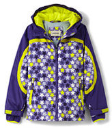 Classic Little Girls Stormer Printed Jacket-Lavender Orchid Stars
