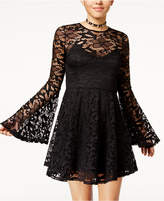 Material Girl Juniors' Lace Fit & Flare Dress, Created for Macy's