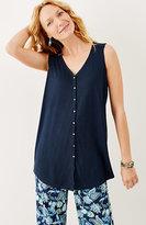 J. Jill Linen-Blend Shirttail Tunic