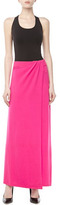 Michael Kors Stretch Cashmere Sarong Skirt, Neon