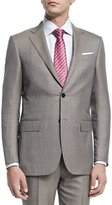 Ermenegildo Zegna Micro-Tic Two-Piece Trofeo® Wool Suit, Tan
