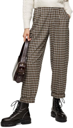 Topshop Check Tapered Trousers