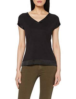 Comma Women's 81.907.32.3498 T-Shirt, (Black 9999), 12 (Size: )