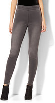 New York & Co. Soho Jeans - High-Waist Pull-On Legging - Medium Heather Grey
