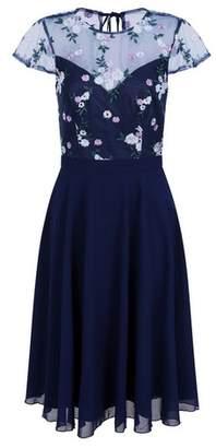 Dorothy Perkins Womens *Chi Chi London Navy Embroidered Midi Dress, Navy