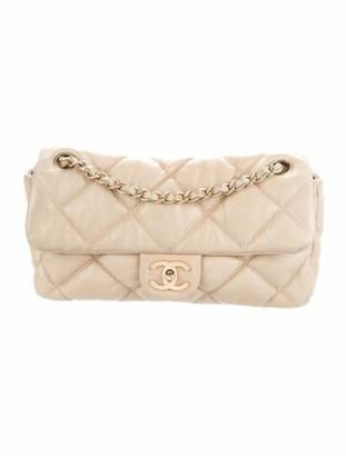 Chanel Small Bubble Quilt Flap Bag Tan