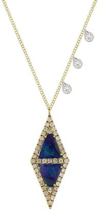 Meira T 14K & Silver 3.02 Ct. Tw. Diamond & Blue Sapphire Necklace
