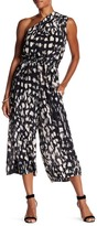 Plenty by Tracy Reese Silk One-Shoulder Culotte Jumpsuit