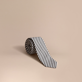 Burberry Slim Cut Cotton Silk Gingham Tie