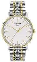 Tissot T1094102203100 Men's Everytime Mesh Bracelet Strap Watch, Silver/Gold